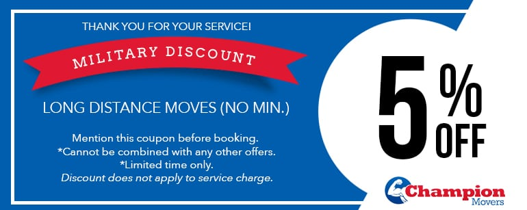 Champion Movers Moving Company - Movers Las Vegas Coupons Military Discount